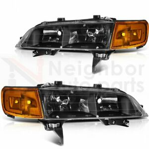 Headlights Assembly For 1994 1997 Honda Accord Headlamp Replacement Pair Set