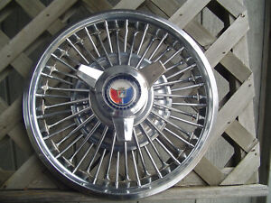 One Vintage 1965 65 Ford Mustang Spinner Hubcap Wheel Cover Antique Classic