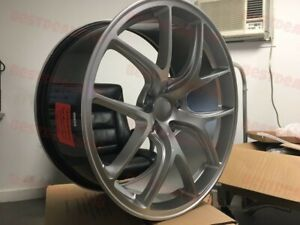 20 Staggered F1 Fi Style Silver Rims Fits Bmw 7 Series 740 745 750 645 650 535