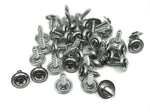 45 Pcs Chrome Kick Panel Door Trim Screws 8 X 5 8 Fits Dodge Amc Chrysler