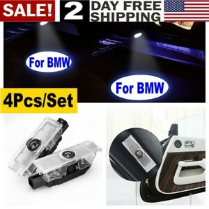 Led Projector Ghost Shadow Light Fit For Bmw Car Door Welcome Lights 4pcs Set