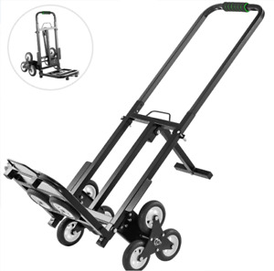 Vevor Stair Climbing Cart 45in Portable Hand 2x Three wheel Hand 330lb Capacity