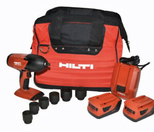 Hilti 3497769 Impact Wrench Kit Siw22t a 2 Batteries 5 2ah With Charger Bag