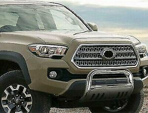 Fits Toyota Tacoma 16 19 New Polished Finish Front Bumper Bar Brush Grille Guard