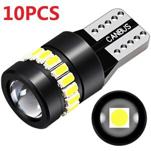 10pcs T10 194 168 W5w 24 Smd Led Car Error Free White Wedge Canbus Light Bulbs