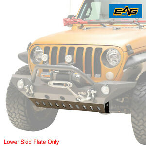 Eag Skid Plate Off Road Front Bumper Armor Fit For 18 21 Jeep Jl Wrangler