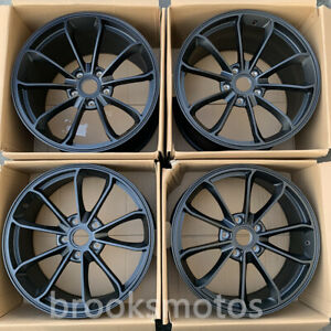 20 Staggered Satin Black Style Forged Wheels Rims Fit 2013 Porsche Cayman 981
