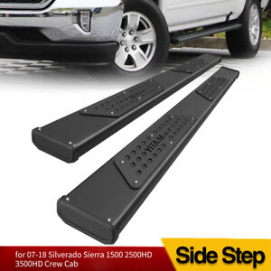 Running Boards For 07 18 Chevy Silverado sierra Crew Cab 6 Nerf Bars Side Steps