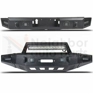Heavy Duty Steel Front Rear Bumper With 25 Led Light Bar For 2015 17 Ford F150