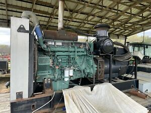 Volvo Penta Generator 500kw With Transformer Switch Box And Diesel Tank Low Hr