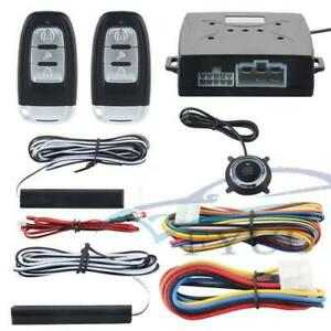 Car Keyless Entry Engine Start Alarm System Push Button Remote Starter Stop