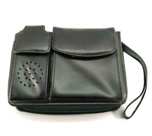 Daily Planner Organizer Black Faux Leather Wallet Calculator 2003 2005