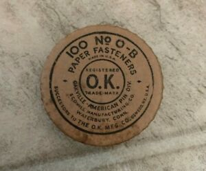 Vintage Oakville No 0 b Paper Fasteners Made In Usa