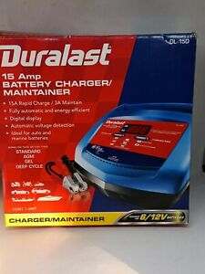 Duralast 15 Amp Battery Charger And Maintainer Dl 15d