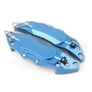 2pcs Car 3d Style Metal Brake Caliper Covers Universal Fit Medium Blue