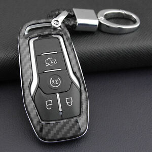 Abs Carbon Fiber Remote Key Shell Cover Case Fit Ford Mustang Edge F150 Fusion