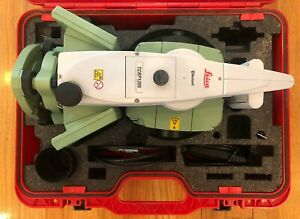 Leica Tcrp1205 R300 Robotic Total Station Surveying Equipment W case And Charger