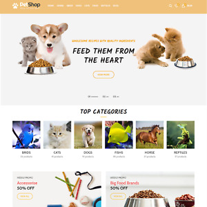 Automated Pets Dropshipping Store With 1000 Products 1 Year Free Hosting