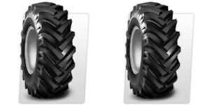 Two 5 00 15 R 1 Lug Compact Farm Tractor Tires Tubes 6ply Rated Bkt Hay Rake