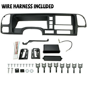 For 95 02 Gmc Truck Suv Car Radio Stereo Double Din Dash Kit Panel Wire Harness
