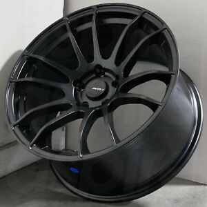 17x9 Matte Black Wheels Avid1 Av20 5x114 3 35 Set Of 4 73 1