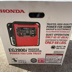 Honda Eg2800i Lightweight Quiet Portable Inverter Generator W built In 30a Plug