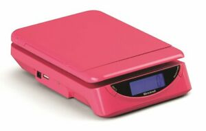 New Brecknell Ps25 Electronic Portable Postal Scale 25 Lb X 0 2 Oz Pink Sealed