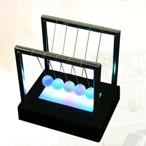Led Newtons Cradle Balance Ball Home Decor Office Physics Gravity Toy Gifts