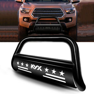 3 Bull Bar For 2016 2021 2020 Toyota Tacoma Grille Guard Front Bumper Black
