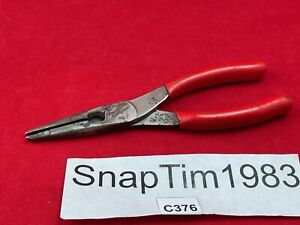 Snap on Tools Talon Grip Needle Long Nose Pliers Cutter 196cf Usa