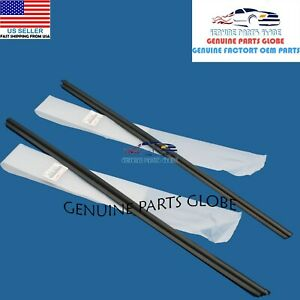 Genuine Toyota 00 05 Echo Outer Right Left Front Door Glass Molding Set Of 2