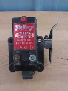 Vintage Mallory Mark Ii Ignition Coil 28675