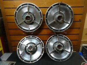 14 1964 Chevy Impala chevelle Ss Oem Spinner Hubcaps Wheel Covers set Of 4