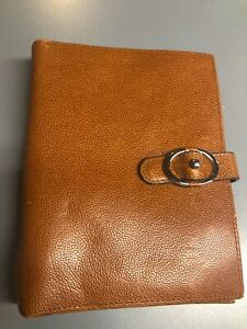 Franklin Covey Organizer Cover Binder Planner Brown Pebbled 6 Ring Leather