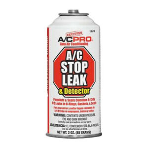 A C Pro Auto Air Conditioning Stop Leak Detector 3oz Charge Lds 1
