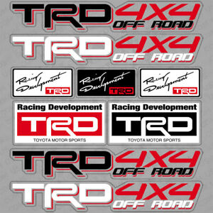 For Toyota Trd 4x4 Off Road Racing Development Sport Car Sticker 3d Decal Stripe