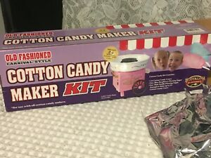 Cotton Candy Maker Kit For 24 Cotton Candy Cones ingredients Only New