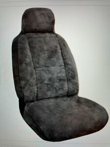 Eurow Sheepskin Seat Cover 56 By 23 Inches Gray pair gently Used