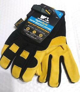 Wells Lamont Men s Hydrahyde Leather Work Gloves One Pair Size M L New
