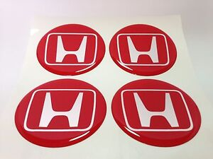 New 4pcs Silicone Stickers For Wheel Centre Cap Hubs For Honda 75mm