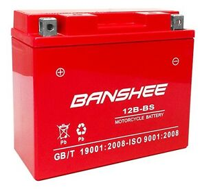 Yt12b bs High Performance Maintenance Free Sealed Agm Motorcycle Battery