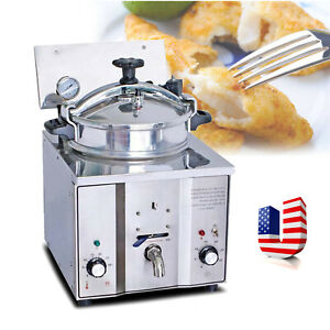Usa 2400w 16l Commercial Electric Countertop Pressure Fryer Stainless Chicken Ce