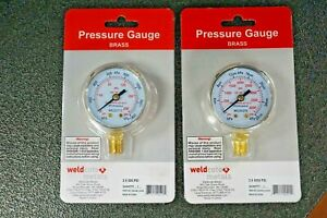 Replacement Welding Gauges For Oxygen Regulator 2 X 200 Psi 4000 Psi