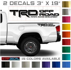 2 Decals For Toyota Trd Off Road Tundra Tacoma Truck Bedside Pair Vinyl Stickers