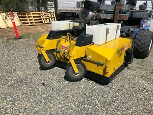 Multisweep 725c Diesel Industrial Forklift Attachment Full Size Yard Sweeper
