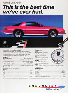 1984 Chevrolet Camaro Z28 Lot Of 2 Genuine Vintage Ads Free Shipping