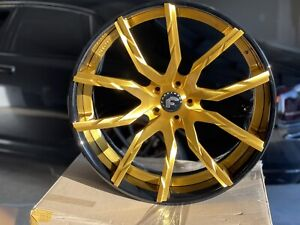 24 Forgiato Formato Ecl Brushed Gold Wheels Rolls Royce Ghost Wraith Dawn