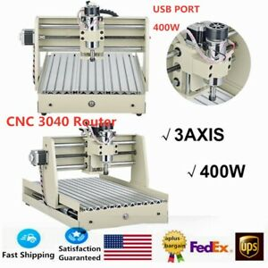 3 Axis Cnc3040 Router Engraver Usb 400w Wood Pcb Engraving Drilling Machine Sale