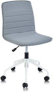 Adjustable Ribbed Task Chair Swivel Low Back Armless Office Desk Bedroom Home