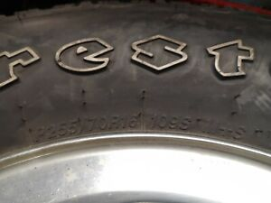 P255 70r16 Firestone Destination Used 255 70 16 109s With Rim Pickup Only